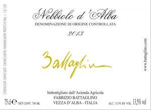 Nebbiolo d'Alba 2013 (etichetta)
